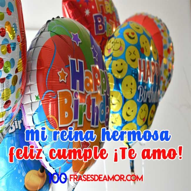 feliz cumpleaños mi reina amor